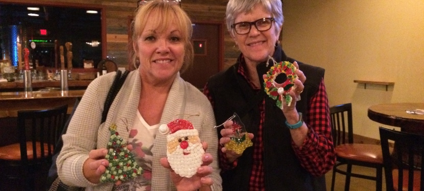 Santas and Snowmen Mosaic OrnamentClass